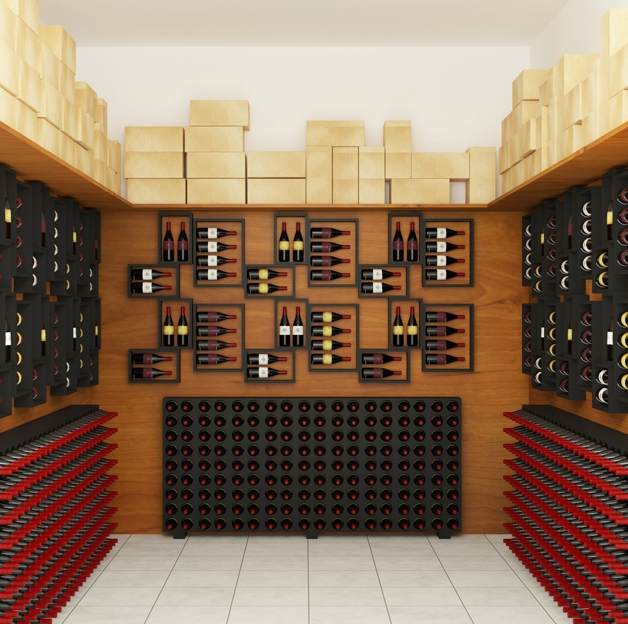 a modern wine storage room