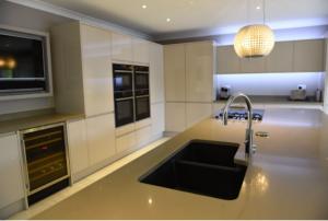 wine cooler in a modern kitchen