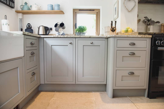 grey cabinets with marble worktops, country style kitchen.png